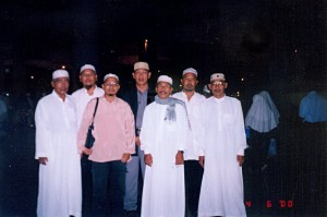 April 06, 2000 (1 Muharram 1420). The gentlemen at Hajj Terminall, Jeddah Airport, waiting for immigration formalities before we departed for home in Malaysia.