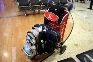 My luggage at Sydney Airport's arrival hall