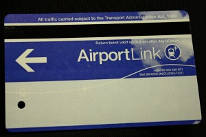 Train ticket from Sydney International Airport to Central Station