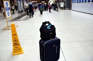 My luggage at Sydney Central (Train) Station