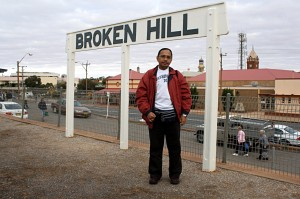 At Broken Hill, not far from the border of New South Wales and South Australia, on the morning of second day of the four-day jouney