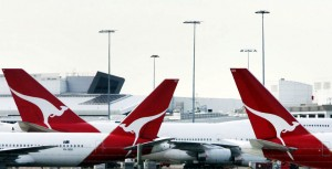 Kangaroo on vertical stabilizer - Qantas' signature