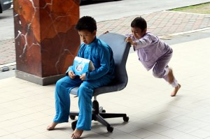 Adib and his friend Amirul, who was number 31 in line, both seemingly unconcerned that their turns were creeping nearer