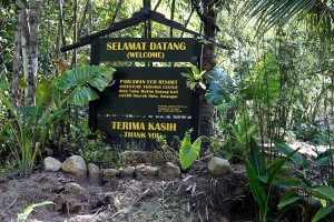 Signboard welcoming us to Pahlawan Eco Resort, Hulu Tamu, Batang Kali, Selangor